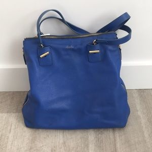 Blue leather Vince camuto expandable purse !